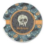 Vintage / Grunge Halloween Sandstone Car Coasters (Personalized)