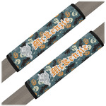 Vintage / Grunge Halloween Seat Belt Covers (Set of 2) (Personalized)