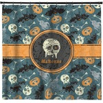 Vintage / Grunge Halloween Shower Curtain (Personalized)