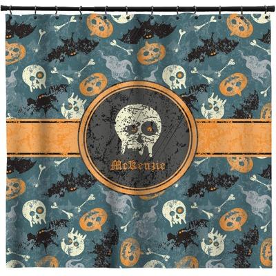 Vintage / Grunge Halloween Shower Curtain (Personalized)