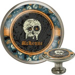 Vintage / Grunge Halloween Cabinet Knob (Silver) (Personalized)