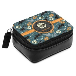 Vintage / Grunge Halloween Small Leatherette Travel Pill Case (Personalized)