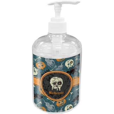 Vintage / Grunge Halloween Acrylic Soap & Lotion Bottle (Personalized)