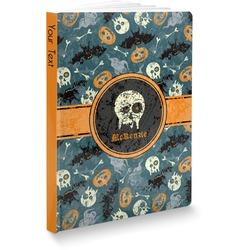 """Vintage / Grunge Halloween Softbound Notebook - 7.25"""" x 10"""" (Personalized)"""