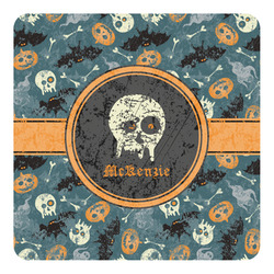 Vintage / Grunge Halloween Square Decal - Custom Size (Personalized)