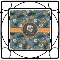 Vintage / Grunge Halloween Square Trivet (Personalized)