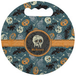 Vintage / Grunge Halloween Stadium Cushion (Round) (Personalized)