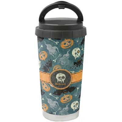 Vintage / Grunge Halloween Stainless Steel Coffee Tumbler (Personalized)