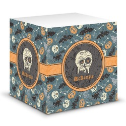 Vintage / Grunge Halloween Sticky Note Cube (Personalized)
