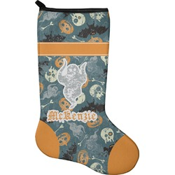Vintage / Grunge Halloween Christmas Stocking - Neoprene (Personalized)