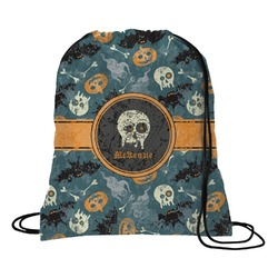 Vintage / Grunge Halloween Drawstring Backpack (Personalized)