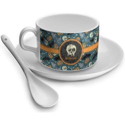 Vintage / Grunge Halloween Tea Cup - Single (Personalized)