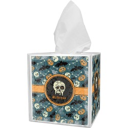 Vintage / Grunge Halloween Tissue Box Cover (Personalized)