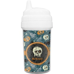 Vintage / Grunge Halloween Toddler Sippy Cup (Personalized)