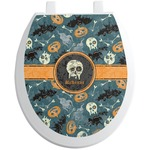 Vintage / Grunge Halloween Toilet Seat Decal (Personalized)