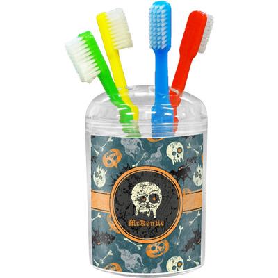 Vintage / Grunge Halloween Toothbrush Holder (Personalized)