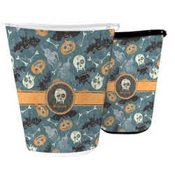 Vintage / Grunge Halloween Waste Basket (Personalized)