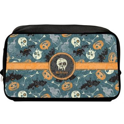 Vintage / Grunge Halloween Toiletry Bag / Dopp Kit (Personalized)