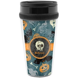 Vintage / Grunge Halloween Travel Mugs (Personalized)