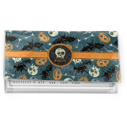 Vintage / Grunge Halloween Vinyl Checkbook Cover (Personalized)