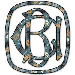 Vintage / Grunge Halloween Monogram Decal - Custom Sized (Personalized)