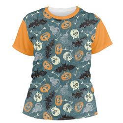 Vintage / Grunge Halloween Women's Crew T-Shirt (Personalized)