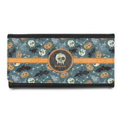 Vintage / Grunge Halloween Leatherette Ladies Wallet (Personalized)