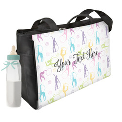 Gymnastics with Name/Text Diaper Bag