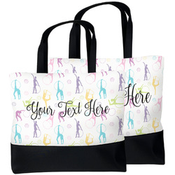 Gymnastics with Name/Text Beach Tote Bag (Personalized)