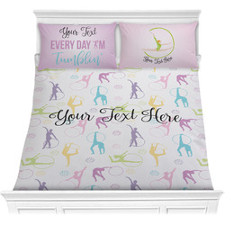Gymnastics with Name/Text Comforters (Personalized)