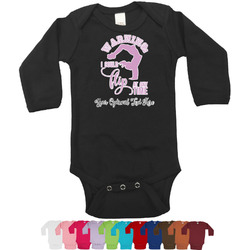 Gymnastics with Name/Text Long Sleeves Bodysuit - 12 Bodysuit Colors (Personalized)