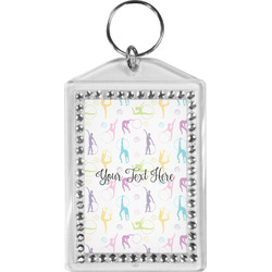 Gymnastics with Name/Text Bling Keychain (Personalized)