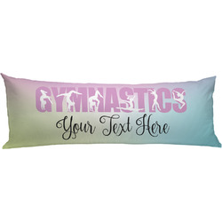 Gymnastics with Name/Text Body Pillow Case (Personalized)