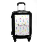 Gymnastics with Name/Text Carry On Hard Shell Suitcase (Personalized)
