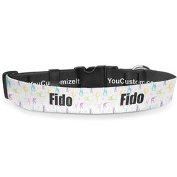Gymnastics with Name/Text Deluxe Dog Collar (Personalized)