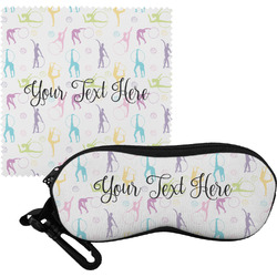 Gymnastics with Name/Text Eyeglass Case & Cloth (Personalized)