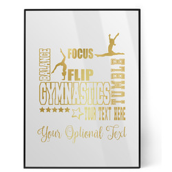 Gymnastics with Name/Text Foil Print (Personalized)