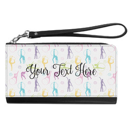 Gymnastics with Name/Text Genuine Leather Smartphone Wrist Wallet (Personalized)