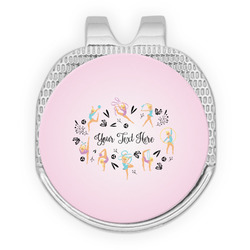 Gymnastics with Name/Text Golf Ball Marker - Hat Clip