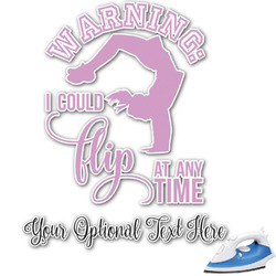 Gymnastics with Name/Text Graphic Iron On Transfer (Personalized)
