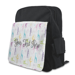 Gymnastics with Name/Text Preschool Backpack
