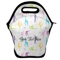 Gymnastics with Name/Text Lunch Bag