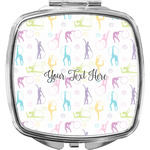 Gymnastics with Name/Text Compact Makeup Mirror (Personalized)
