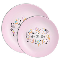 Gymnastics with Name/Text Melamine Plate (Personalized)