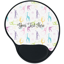 Gymnastics with Name/Text Mouse Pad with Wrist Support