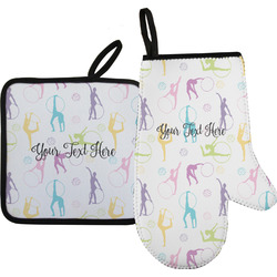 Gymnastics with Name/Text Oven Mitt & Pot Holder (Personalized)