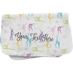 Gymnastics with Name/Text Burp Cloth (Personalized)