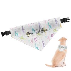 Gymnastics with Name/Text Dog Bandana (Personalized)
