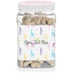 Gymnastics with Name/Text Dog Treat Jar (Personalized)