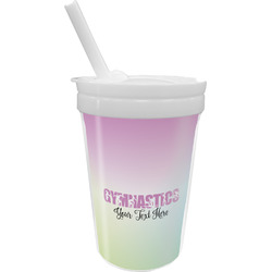 Gymnastics with Name/Text Sippy Cup with Straw (Personalized)